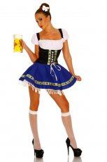 Oktoberfest Beer Maid Serving Wench Fancy Dress Costume