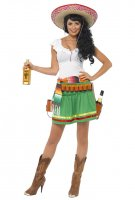 Ladies Tequila Shooter Girl Sombrero Mexican Women Costumes
