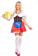 Ladies German Dirndl Oktoberfest Beer Maid Costume