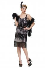 Ladies 20s 1920s Charleston Flapper Chicago Fancy Dress Co