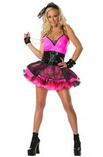 Pink Pop Star 1980s Costume
