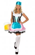 Ladies Dirndl Oktoberfest Beer Maid Costume