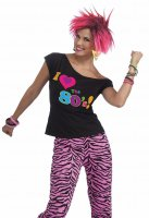 I Love the 80s T-shirt Costume 1980s Fancy Dress Top