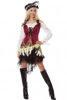 Caribbean Pirate Costume Wench Swashbuckler Costume