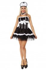 French Maid Fancy Dress Costume Outfit set