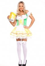Oktoberfest German Beer Maid Fancy Party Dress