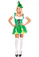 St Patricks Leprechaun Oktoberfest Beer Maid Costume