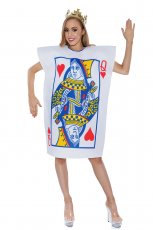 Womens Queen Of Hearts Poker Playing Card Fancy Adult Costume