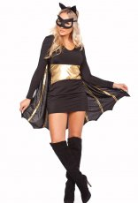 Superhero Bat Women Batgirl Fancy Dress Costume