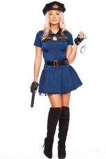 Ladies Police Cops Uniform Halloween Fancy Dress Costume
