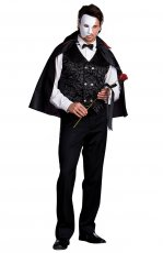 Mens Mysterious Phantom of the Opera Halloween Fancy Dress