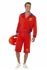 Baywatch Beach Men's Lifeguard Short Jacket Licensed Costume