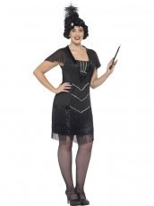 Plus Size Curves Glamour Gatsby Flapper Charleston Chicago 1920s