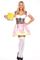 Ladies Beer Maid Heidi Oktoberfest Fancy Dress Costume