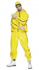Mens Ali G Rapper Suit Yellow Tracksuit 80s Hip Hop Fancy Dress