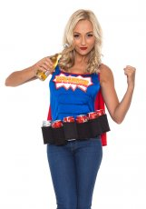 Ladies Super Six-Pack Hero Oktoberfest Costume