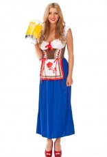 Dirndl Octoberfest German Beer Maid Costume