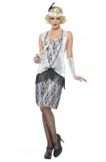 Ladies 20s Flapper Gangster Fancy Dress Costume