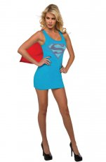 Ladies Supergirl Superhero Licensed Fancy Dress Costume