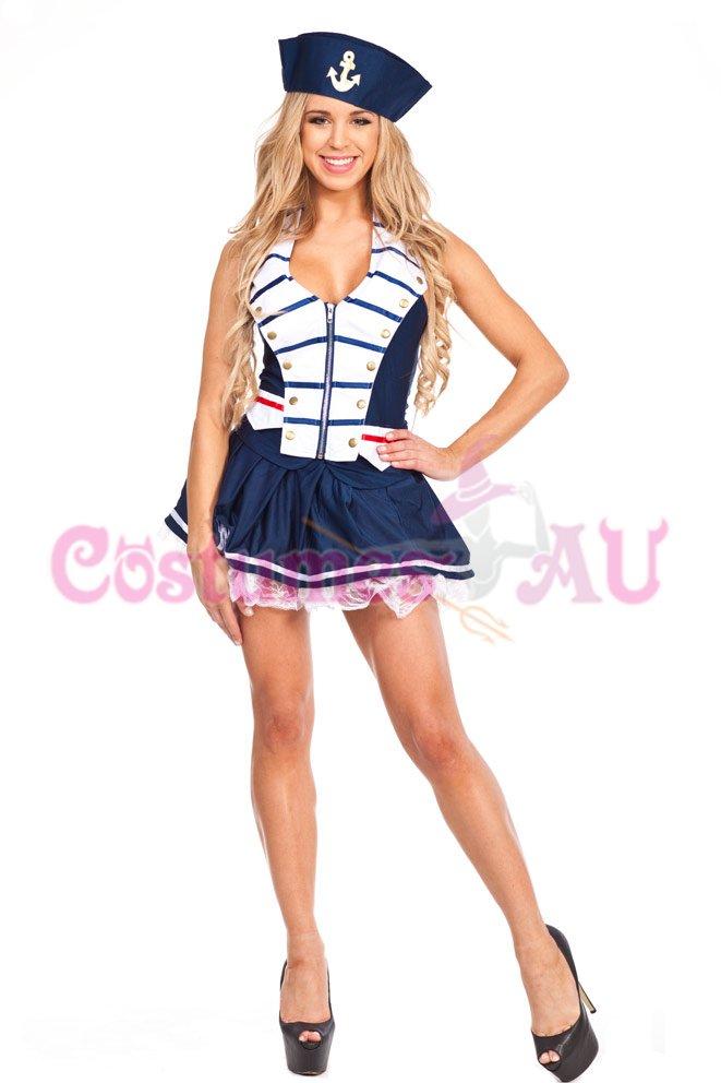 Ladies Sailor Uniform Navy Costume 50s Rockabilly Pin Up ...