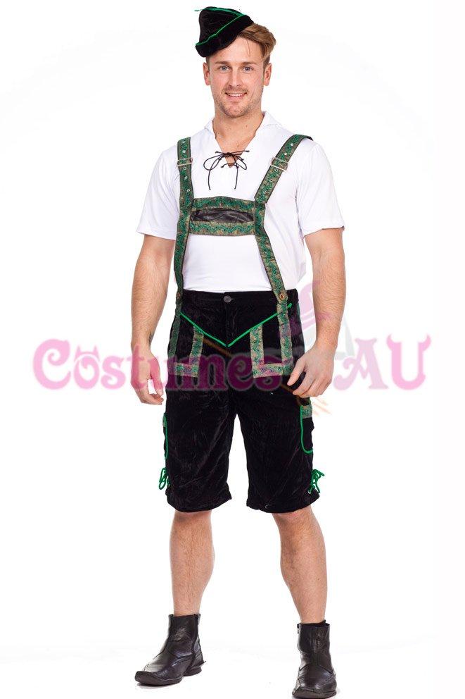 Beer Octoberfest Fancy Dress Men Oktoberfest Costume German Bavarian Lederhosen