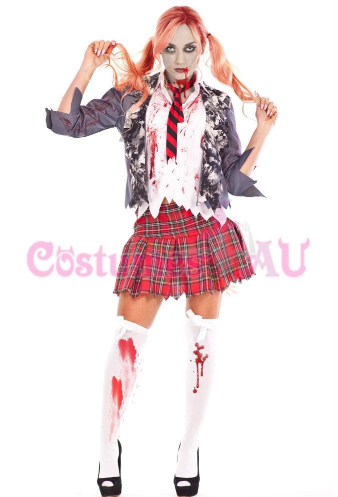 product description zombie bloody school girl halloween