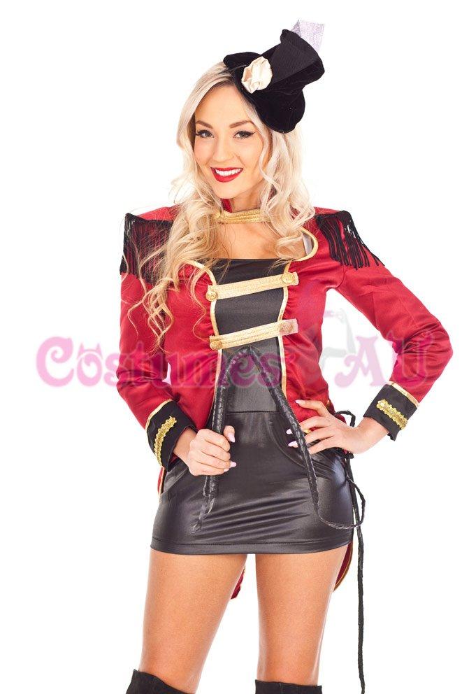 Ladies Ring Mistress Circus Ringmaster Costume Showgirl Magician Fancy Dress