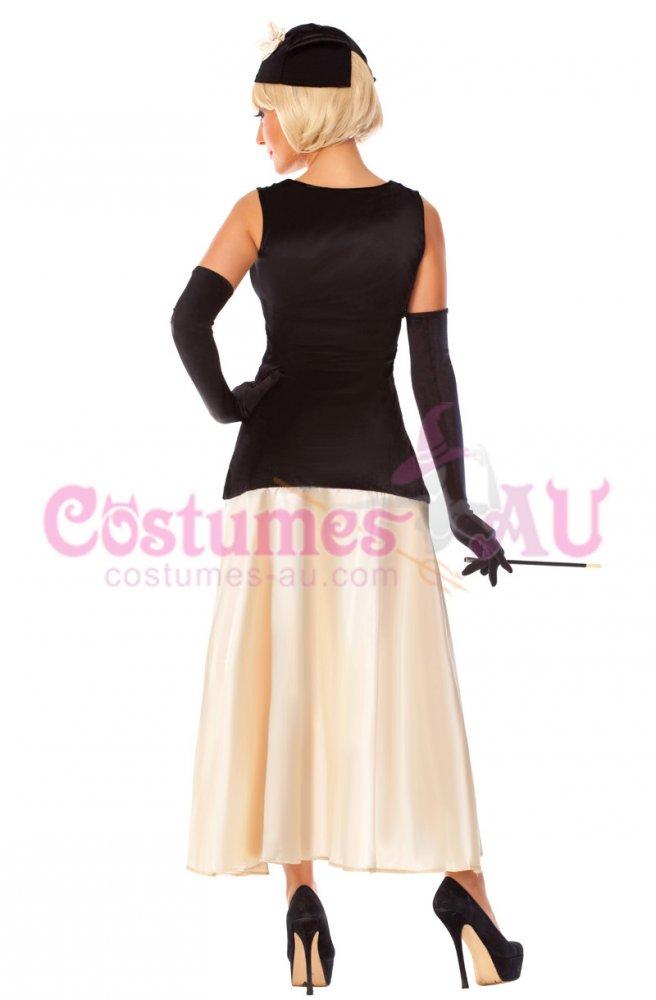 ladies 1920s flapper fancy dress costume package includes hat dress ...