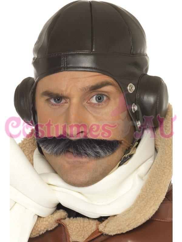 40s WW2 Retro Men Winter Warm Earmuff Aviator Pilot Trapper Flying Hat Ski Cap