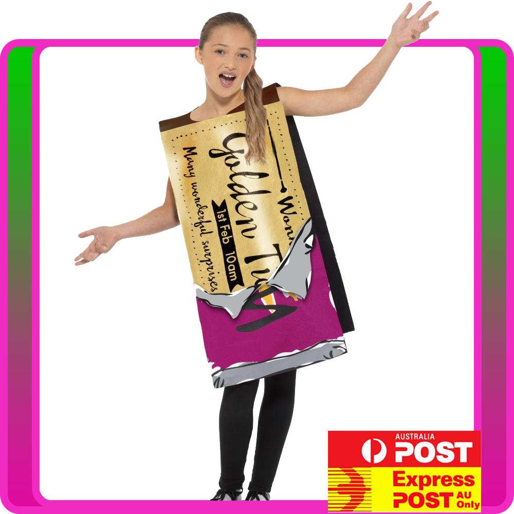 Details About Girls Roald Dahl Winning Wonka Bar Costume Child Chocolate Factory Book Week