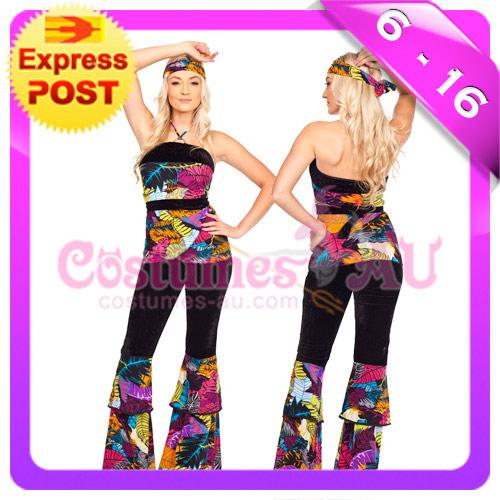 Ladies-60s-70s-Retro-Hippie-Go-Go-Girl-Disco-Costume-Hens-Party-Fancy