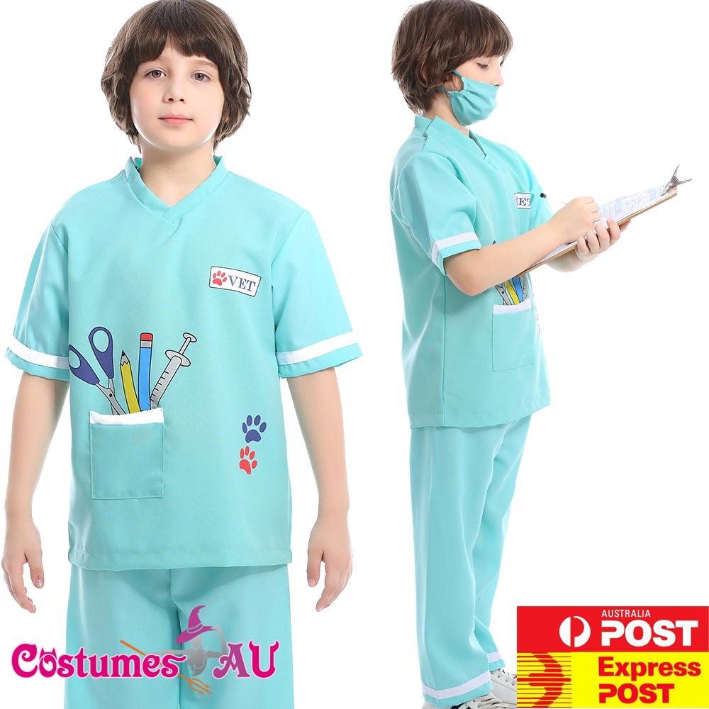 Child Nurse Costume Girls Doctor 40s Hospital Book Week Kids Uniform Vet Outfits