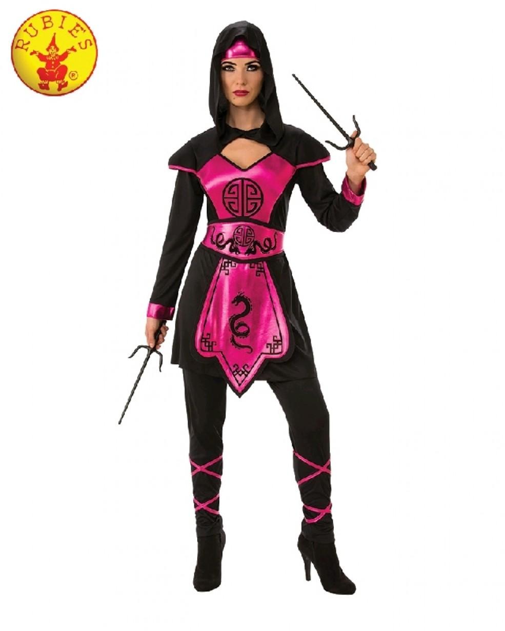 Girls Pink Ninja Costume Japanese Assassin Child Warrior Book Week Kids Outfits