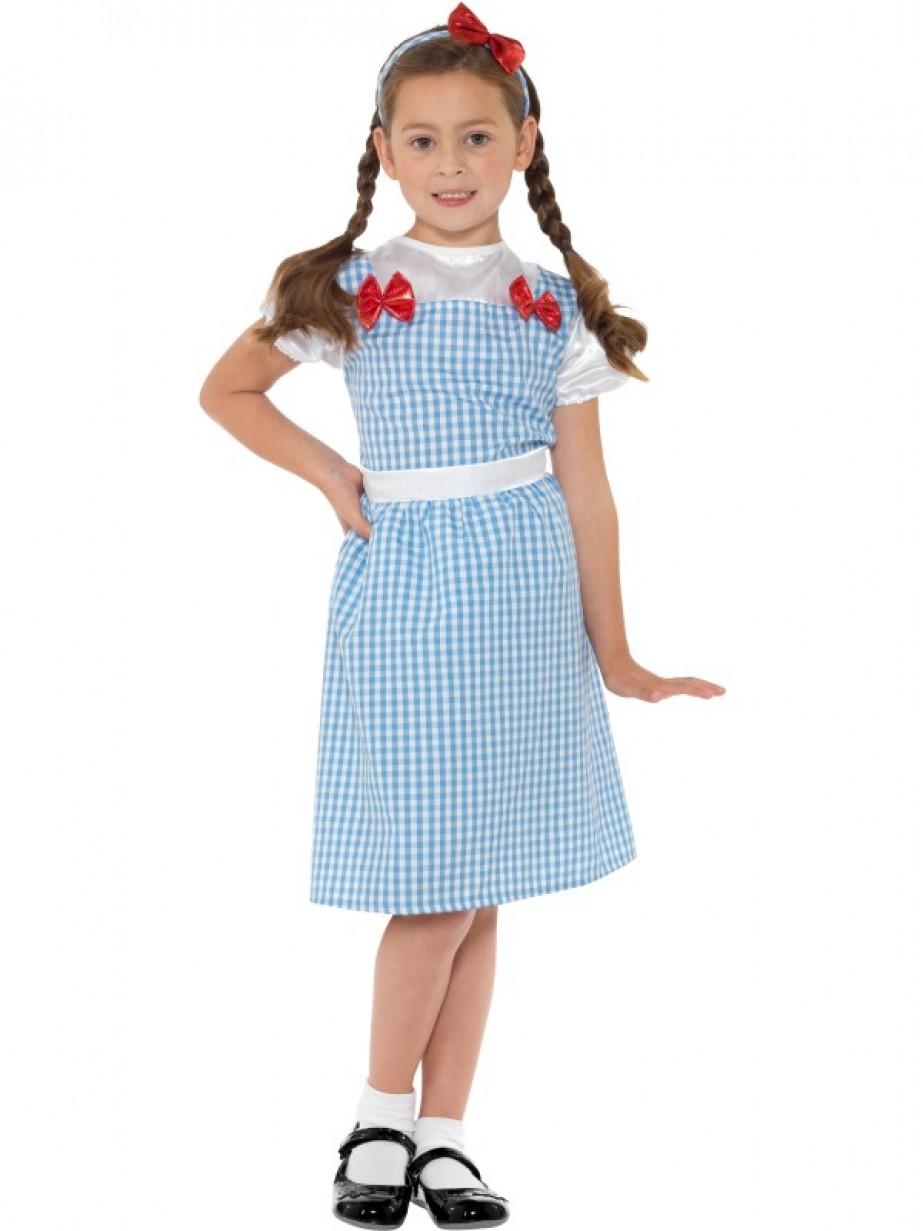 Ladies Wizard of OZ Dorothy Costume Book Week Disney Halloween Blue Fancy Dress