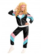 Black Ladies 80s Height Of Fashion Shell Suit Costume