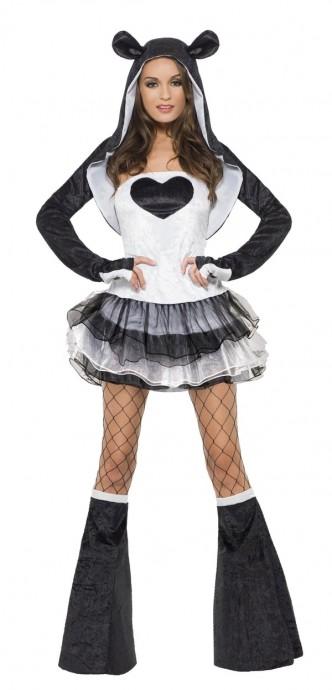 Fever Sexy Panda Animal Jungle Zoo Bodysuit Catsuit Womens Ladies Fancy Dress Costume
