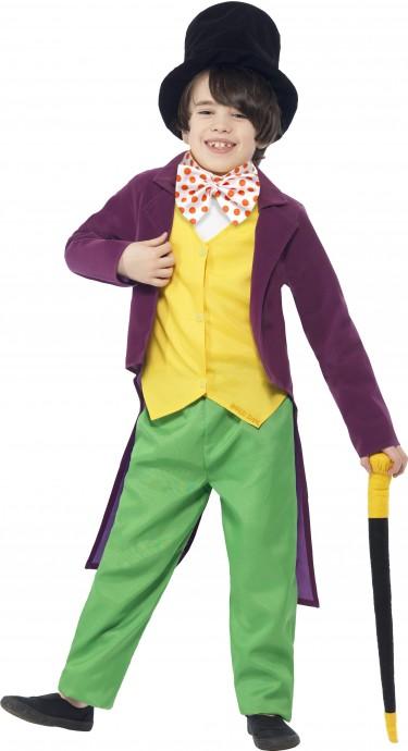 Roald Dahl Willy Wonka Chocolate Factory Boys Book Week Fancy Kids Costume