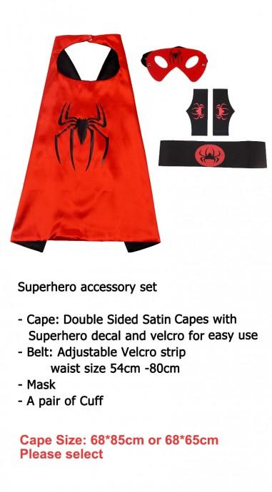 Spider Cape & Mask Costume set