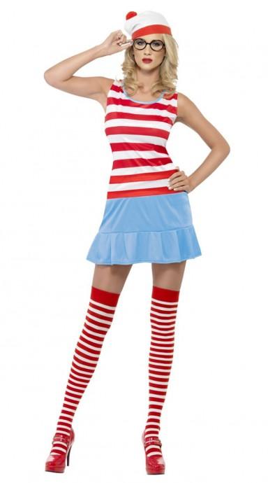 Cartoon Costume - Womens Wheres Wally Wenda Cutie Girl Costume Geek Nerd Book Week Fancy Dress Funny TV