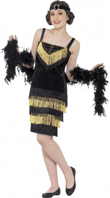 Teen 20s 1920s Charleston Gatsby Girl Flapper Burlesque Fancy Dress Costume