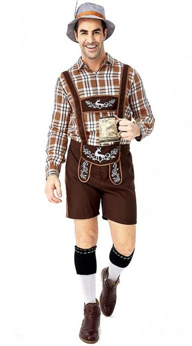 Bavarian Beer Mens Costume over all 3108 2
