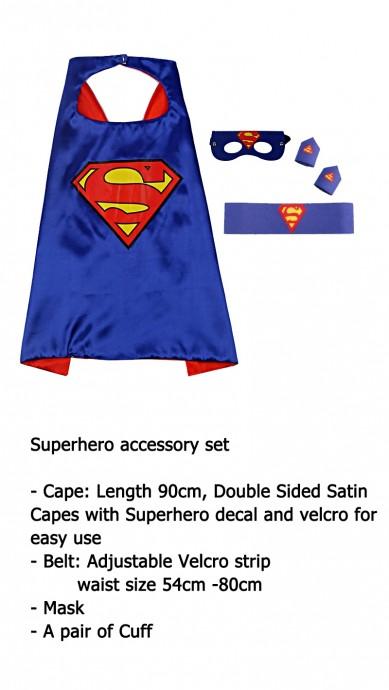 Superman Cape & Mask Costume set Superhero
