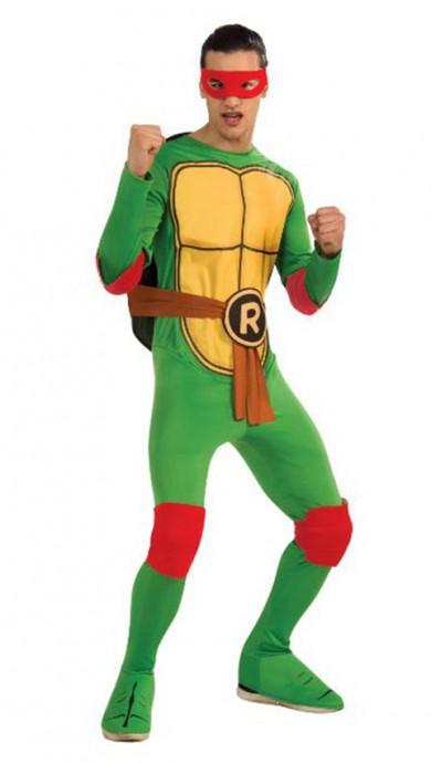 Movie/TV/Cartoon Costumes - TV Show TMNT Teenage Mutant Ninja Turtles Costume Rubie's Raphael Red