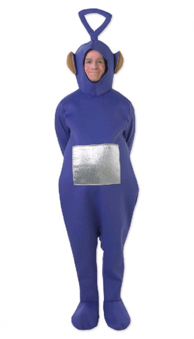 Teletubbies Costume Party Fancy Dress Up Licensed Outfit Unisex Tinky Winky (Purple) Po (Red) Laa-Laa Dipsy Adult TV Show Jumpsuit