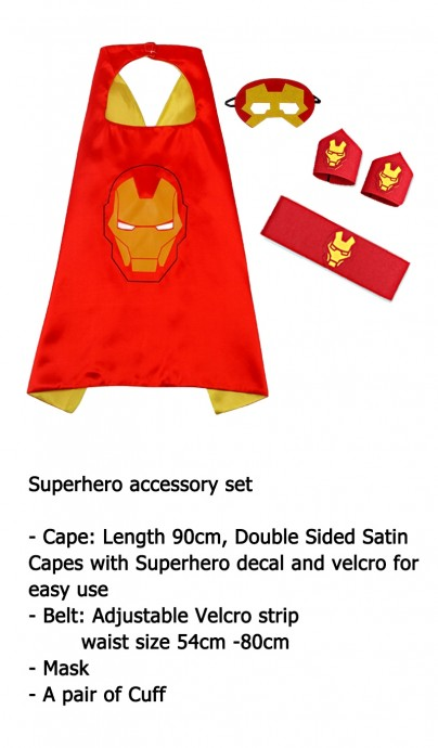 Iron man Cape & Mask Costume set Superhero