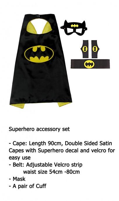 Batman Cape & Mask Costume set Superhero