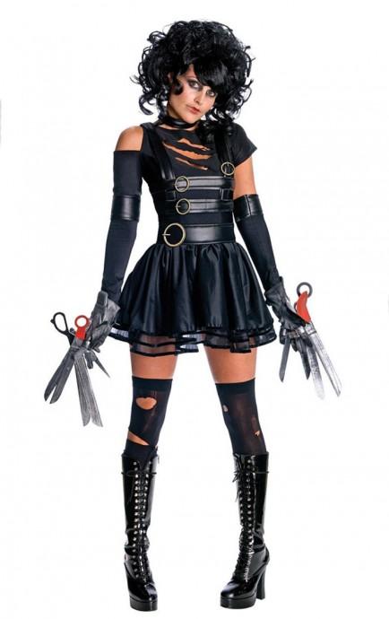 Edward Scissorhands Miss Scissorhands Fancy Dress Halloween Adult Rubies Licensed Costumes