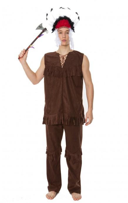 Wild West Costumes - Mens Noble Warrior Native American Indian Halloween Fancy Dress Adult Costume
