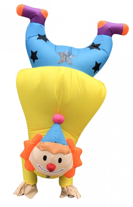 handstand clown carry me inflatable fun costume tt2036