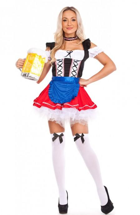 Ladies Oktoberfest Beer Maid Costume lb1124